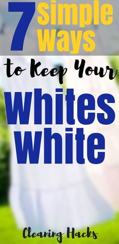 7 Simple Ways to keep your Whites White , this Life Hacks or this Cleaning Hacks will keep you white clothes white not yelow or other colors , so I hope you try Cleaning Hacks
