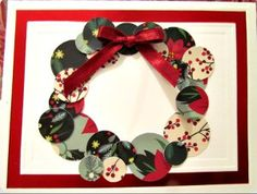 This Scraptastic Wreath Card is a great way to reuse last year's Christmas cards.
