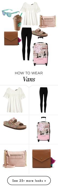 """""""Untitled #167"""" by brenna-renee on Polyvore featuring Birkenstock, IKASE, H&M, BP., Max Studio, Polaroid and Vans"""