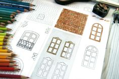 Milk Paper houses illustrated printable and diy by cafe-veyafe blog