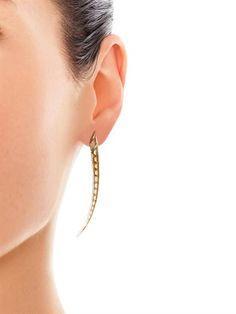 Shaun Leane Citrine & yellow-gold Sabre earrings