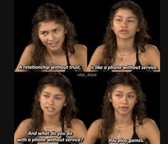 Zendaya Gets Real About Police Brutality: 'I'm Terrified For My Father and Brothers' zendaya edit quotes memes empowering relationship quotes Related Deep and Inspiring Quotes - - inspirierende Zitate. Really Funny Memes, Stupid Funny Memes, Funny Relatable Memes, Haha Funny, Funny Texts, Hilarious Quotes, Funny Yearbook Quotes, Funny Animal Jokes, Funny Disney Memes