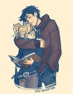 Percy & Annabeth (commonly known as Percabeth) - one of my all time favorite Viria pieces. (artist: viria.tumblr.com)