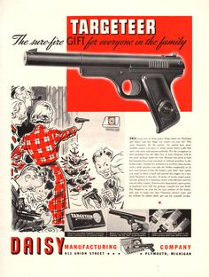 1937 Daisy Targeteer BB gun print ad Sure-Fire gift for everyone in the family