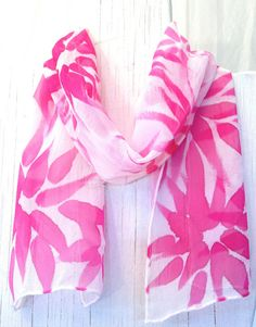 pink silk handpainted