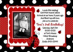 1st birthday girl ladybug theme | Ladybug Invitations Red and Black Ladybug Birthday Invitation ...
