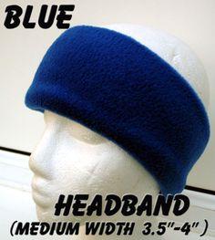 eb88c95a95e WIDE navy blue polar fleece HEADBAND thermal polar fleece ear head warmer  ski UK