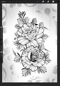 Rose Heart Tattoo, Rose Flower Tattoos, Flower Tattoo Designs, Flower Designs, Mini Tattoos, New Tattoos, Small Tattoos, Graffiti Tattoo, American Tattoos