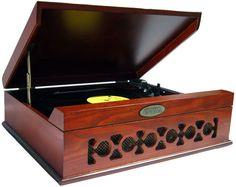 Winston Mahogany USB Record Player
