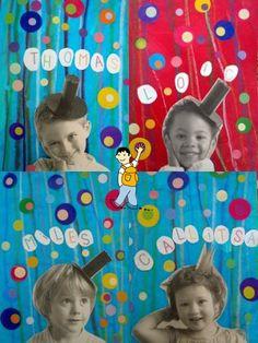 Portada álbum escolar del circo con las fotos de los alumnos