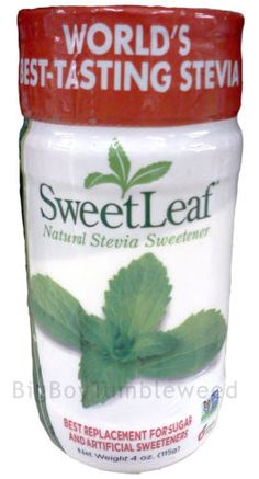 Sweet Leaf Natural Stevia Sweetener 4 oz powder shaker bottle ZERO CALORIE sugar