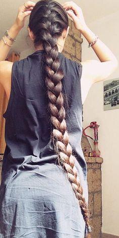 Length of hair goals Beautiful Braids, Beautiful Long Hair, Gorgeous Hair, Braided Hairstyles, Straight Hairstyles, Long Indian Hair, Rapunzel Hair, Super Long Hair, Really Long Hair