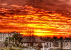 Sunset over the rooftops of Penzance