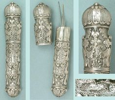 Exceptionally Nice Early Antique French Silver Needle Case Circa 1750 | eBay
