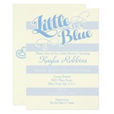 Baby Shower, Little Boy Blue Invitations
