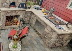 patiodesign outdoor  kitchen tipps ideas with pizza oven grill area