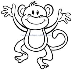 Awesome Animal Monkeys Colouring Sheets Printable Free For Preschool 27100 Check More At