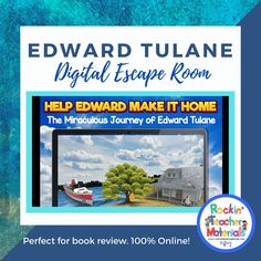 Help Edward Make It Home is a 360° escape room loaded with ways for students to review what they learned from the book, The Miraculous Journey of Edward Tulane, in a fun, engaging, and interactive way. Students must solve 6 clues to unlock the codes that will help them get Edward back home. Check out the preview and video to see more!