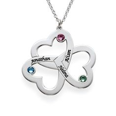 Mother's Day Gifts - Personalized Triple Heart Necklace | MyNameNecklace