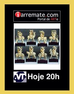 www.iarremate.com.br Leilão Valdir Teixeira HOJE (26/05) as 20h!  173 Grupo de 8 imortais, em marfim, cada um com seus atributos, sobre animais reais e mitológicos. China. Período Revolucionário. Alt. 14cm.  #marfim #coleção #decoração #exposição #mitologia #China #decoração #investimento #arquitetura #arte #iarremate #valdirteixeira #leilaodearte #leilaoonline #antiguidades