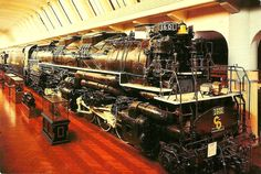 """1941 Lima """"Allegheny"""" 2-6-6-6 coal-burning locomotive. Weighs nearly 600 tons and is 125 feet long. On display at Henry Ford Museum, Dearborn, MI"""