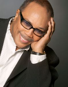 """Quincy Jones ~  American Record Producer, Conductor, Arranger, Film Composer, Television Producer, and Trumpeter. His career spans five decades in the entertainment industry and a record 79 Grammy Award nominations, 27 Grammys, including a Grammy Legend Award in 1991. He is particularly recognized as the producer of the album Thriller, by pop icon Michael Jackson, which has sold more than 110 million copies worldwide, and as the producer and conductor of the charity song""""We Are the World"""""""