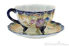 Blue Nippon Hand Painted Teacup by Robert Guildig, via Dreamstime