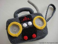 Thursday's Handmade Love week 71 Theme: Wristlet bag  Crochet Pattern - RADIO PURSE - For cell phone / money / others - PDF via Etsy
