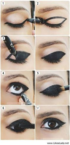 girly, diy, black makeup, fashion, makeup tutorial, girl, makeup, tutorial, diys, beauty, eyes tutorial