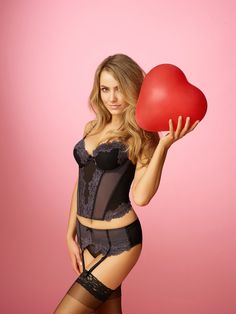 I <3 you Anastasia Set http://www.brasnthings.com/anastasia-push-up-corset-black