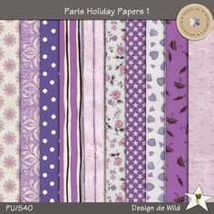 Paris Holiday Papers 1 by Design de Wild  | September 2014 Memory Mix @ Memory Scraps