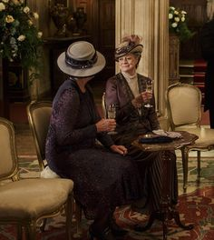 Cheers! Isobel Crawley and Maggie Smith's the Dowager toasted the future on New Year's Eve