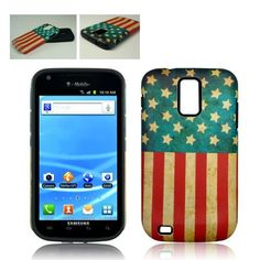 T MOBILE SAMSUNG GALAXY S 2 II AMERICAN FLAG CASE COVER