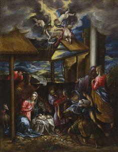 The Adoration of the Shepherds / La adoración de los pastores // ca. 1570-1575 // Domenikos Theotokopoulos, El Greco // San Diego Museum of Art // #Jesus #Christ #Christmas #Navidad #Natal
