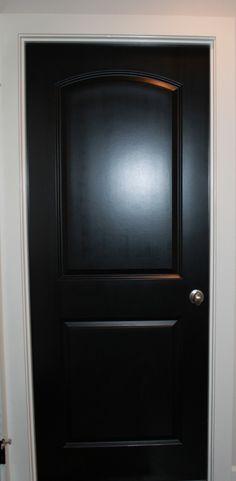 black doors shape/style/finish