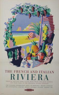 The French and Italian Riviera - British Railways - 1953 - (Nevin) -