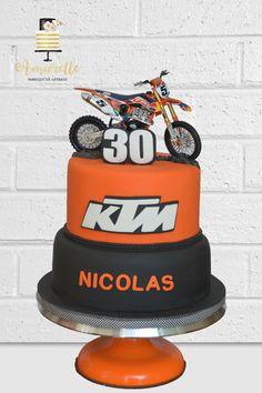 Gateau moto cross - KTM cake