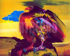 alejandro obregon Wings, Wall Art, Condor, Anime, Painting, Image, Beautiful, Classroom, Artists