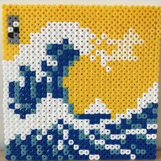 The Great Wave of Kanagawa perler beads by mushroomwashere