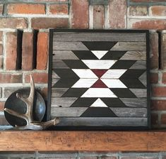 Reclaimed wood wall art - Southwest wood wall art - Navajo inspired - Squash Blossom by PaintedPonyBySandy on Etsy