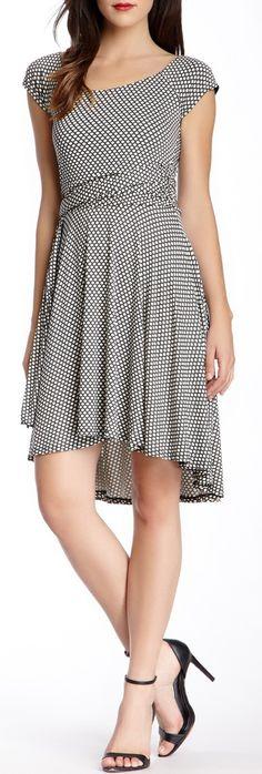 Krista Printed Hi-Lo Dress