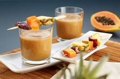 Tropical Pineapple-Papaya Smoothie