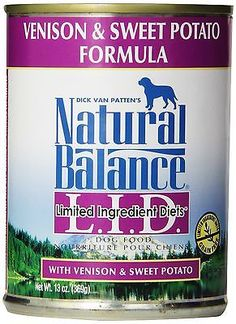 Natural Balance Canned Dog Food, Grain Free Limited Ingredient Diet Venison