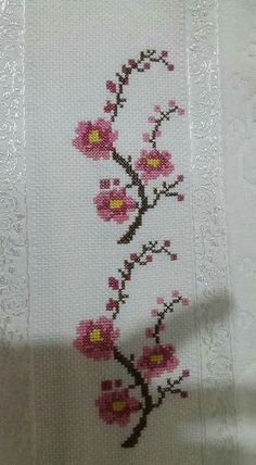 This Pin was discovered by Hor Cross Stitch Bookmarks, Cross Stitch Borders, Cross Stitch Flowers, Counted Cross Stitch Patterns, Cross Stitch Designs, Cross Stitching, Cross Stitch Embroidery, Embroidery Patterns, Canvas Template