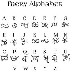 This is a lovely unique Faery Alphabet. Perfect for crafting secret messages or magickal faery poems or just as a lovely addition to your personal journal. Scaled to be printed on x paper File includes full alphabet file format: PDF Alphabet Code, Alphabet Symbols, Rune Symbols, Magic Symbols, Symbols And Meanings, Glyphs Symbols, Viking Symbols, Viking Runes, Ancient Alphabets