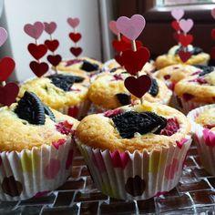 Babeczki z oreo i malinami/ Oreos & raspberries cupcakes