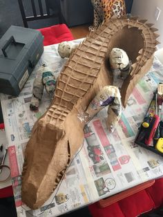 How to make a diy paper mach alligator with foam board for How to make paper mache waterproof