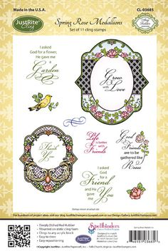 Spring Rose Medallions April Release -Cling Set