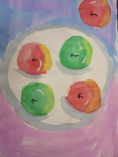 The Art Teacher's Closet: In the Art Room - 2nd Grade Apple Still Life