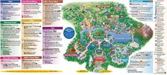 Animal Kingdom Map - view a free printable PDF Disney World map. View the main attractions at Disney Animal Kingdom. Disney Map, Disney World Map, Disney World Guide, Disney Hotels, Disney World Tips And Tricks, Disney World Vacation, Disney World Resorts, Disney Trips, Disney 2017